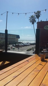 View of PB drive beach from the California Kitchen and Beer Garden