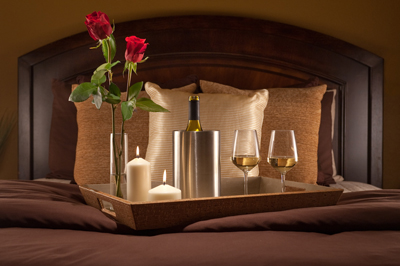 San Diego Bed and Breakfast Romantic Tray with Roses