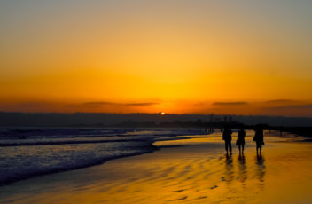 The Sun Set And Silhouette at the Coronado Beach in San Diego  i